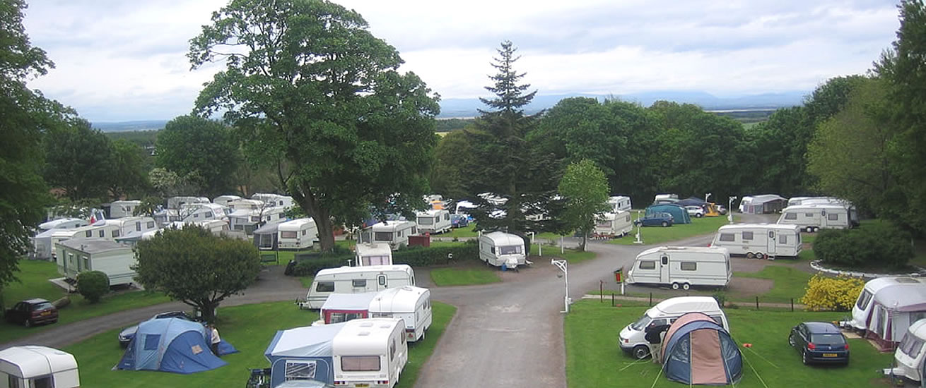 Bruce's Cave Caravan Park and Camp Site south west Scotland