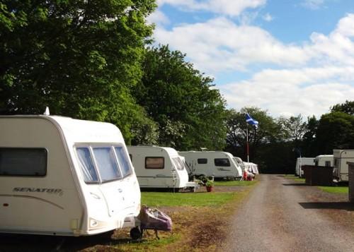 Bruce's Cave Caravan Park and Camp Site south west Scotland